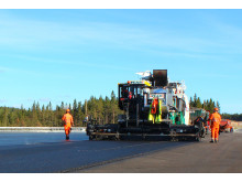 Utläggning av asfalt