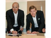 Ericsson och Dassault Systèmes undertecknar avtalet.