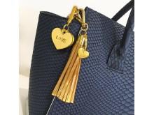 Accessoar till väskan / Nyckelring - Hjärta, på väska