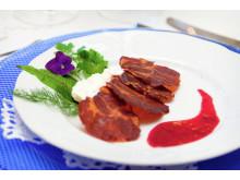 Auch so schmeckt Norwegen: Fenalår, ein delikater Schinken aus der gepökelten und geräucherten Lammkeule.