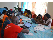 Training session in preparation for MyChild System implementation in Mukono District 2014