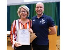 Carina Ödman är Årets Idrottslärare