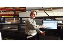 Sigurd Hammerstad i Megaprint og HP Latex 3000