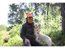 Ebba Henning Planck och hunden Lexi