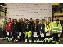 Samtliga deltagare i dagens Kvaltävling i Uddevalla