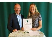 Miljöborgarrråd Katarina Luhr och Niclas Sahlgren grundare Eways 2017-05-29