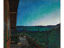 Sommernatt/Summer Night av Harald Sohlberg