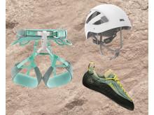 Säker klättring med rätt utrustning. Klätterkit DAM