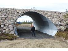 Den nye tunnel i Lofsdalen med projektleder Torsten Byström