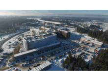 Fra bygging av LHL-sykehuset på Gardermoen. Foto: Nordby Maskin AS