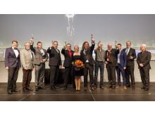 Stolze Sieger des Deutschen Metallbaupreises 2015 und des Feinwerkmechanikpreises