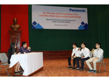 A trial interview organized on stage to provide a realistic perspective on the job application process.
