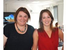 Für Studienberatung und Karriereplanung zuständig: Power-Girls Anne Steyer (li.) und Janina Reichert.