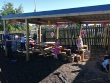 Jack & Jill gazebo and mud kitchen