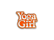 Yoga Girl orange logo pin