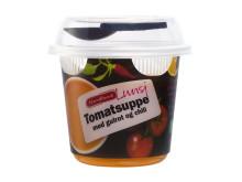 Fjordland Lunsj. Tomatsuppe med gulrot og chilli.