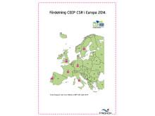 Fördelning CEEP CSR Label Europa 2014