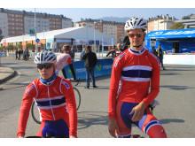 Øyvind Hoe Skog og Syver Wærsted under sykkel-VM; 2014