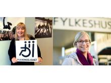 Daglig leder i NKA, Tone Østerdal, og fylkesråd for kultur og næring i Troms fylkeskommune, Sigrid Ina Simonsen.