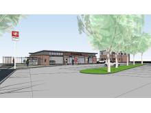 New Ridgmont Road entrance