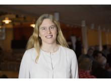 Line Gordon, Stockholm ResilienceCenter, pratade hållbar mat under Forum Nyköping 2016.