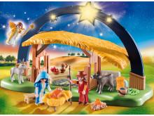 """Verbreitet weihnachtliche Stimmung: Der Lichterbogen """"Weihnachtskrippe"""" (9494) von PLAYMOBIL"""
