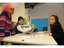 Elever från Erlaskolan Östra animerar på Cnema i Norrköping