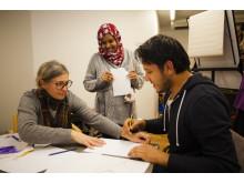 Bild från tidigare projekt med Studiefrämjandet tillsammans med volontärer.