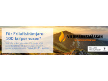 Erbjudande till Friluftsfrämjandets medlemmar - Vildmarksmässan 2017