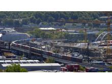 Byggnation av nya Marieholmsbron