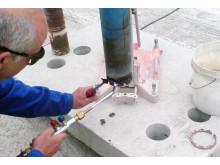 Ny metode for genbestykning af kernebor - Steg 1: Aflod