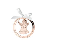 R_Silver_Collection_Angel_Rose_Gold_sitting_8_cm
