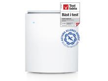 Classic 405 med Asthma Allergy Nordics och Testfakta-symboler
