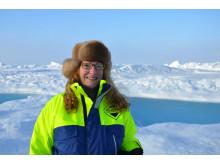 Pauline Snoeijis Leijonmalm i Arktis vid en tidigare expedition.