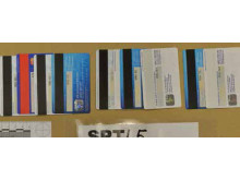Credit cards seized at an address in East Ham.