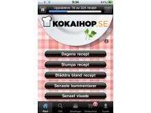 Kokaihop.se - iPhone startsida