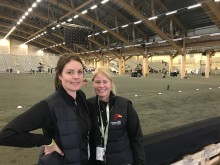 Jennie Filipsson Eriksson and Rebecca Benje, competition organizers and co-organizers for Elmia Icelandic Power Show.