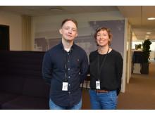 Eilert Haug Flyen og Bodil Motzke i Undervisningsbygg var svært fornøyde med ti deltakere i innovasjonskonkurransen.