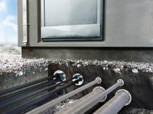 Roxtec UG™ tætninger til kabler og rør i bygninger under jorden. Tætningerne forhindrer oversvømmelser og  fugt i at skade udstyr