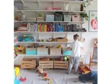 DK_Elfa hyldesystem børneværelset