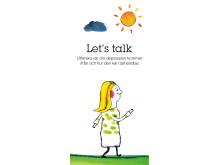 Let's talk, framsida folder, mobil app