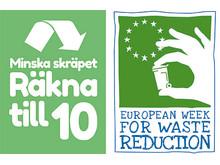 Loggor för Räkna till 10 och Europa minskar avfallet-veckan