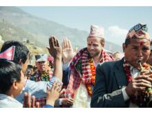 Utviklingsminister Nikolai Astrup åpnet Shree Devitar Basic School i Dolakha i Nepal