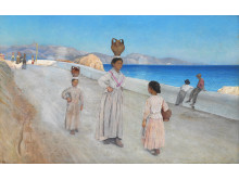 """L. A. Ring: """"Henad aften ved Terracina."""" (1894)"""