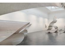 Siri Aurdal, Bølgelengder, 1969 / 2016, installasjonsfoto fra utstillingen «AURDAL / MUGAAS», Kunstnernes Hus, 2016.