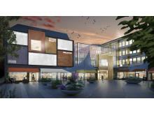 Visionsbild över Danderyds Centrum, Södra Torget