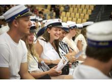 Der var en festlig stemning, da HHX studenterne blev dimitteret.