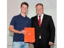 Korschenbroich - Jonas Jurczyk und BM Venten