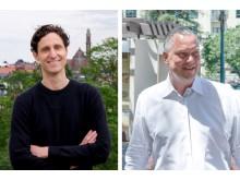 Från vänster till höger; Oscar Berglund, vd på Trustly Group och Alexandre Gonthier, vd på PayWithMyBank