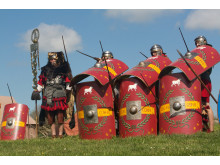 Romerske soldater fra legionen Cohors Il Cimbria